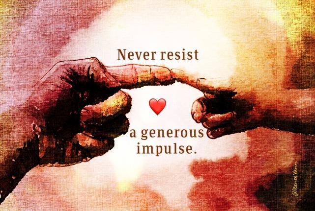generous impulse