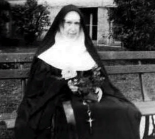 mother Patricia with flower