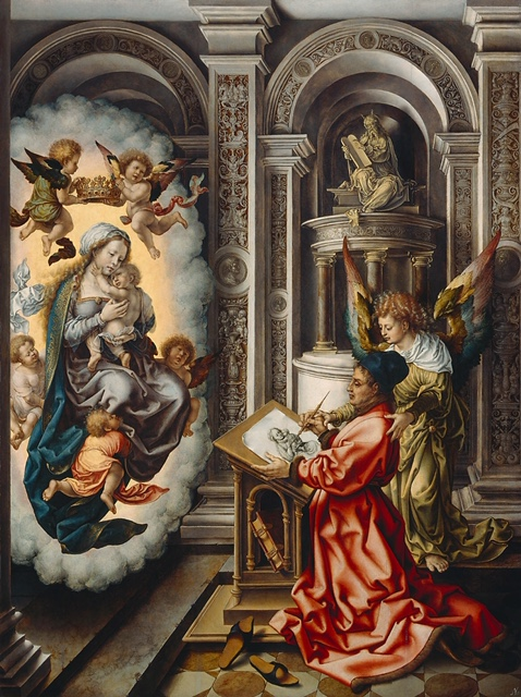 Jan Fossaert: Luke Painting the Virgin