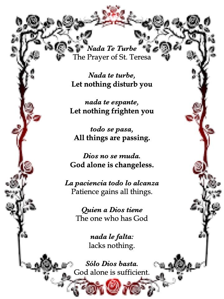 Teresa prayer