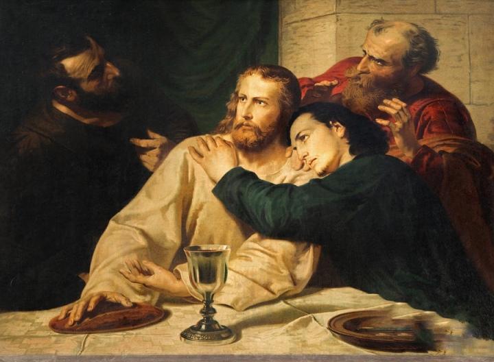 jesus-and-st-john-at-last-supper-jozef-sedmak