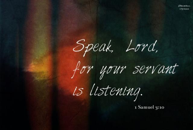 1Sam speak Lord